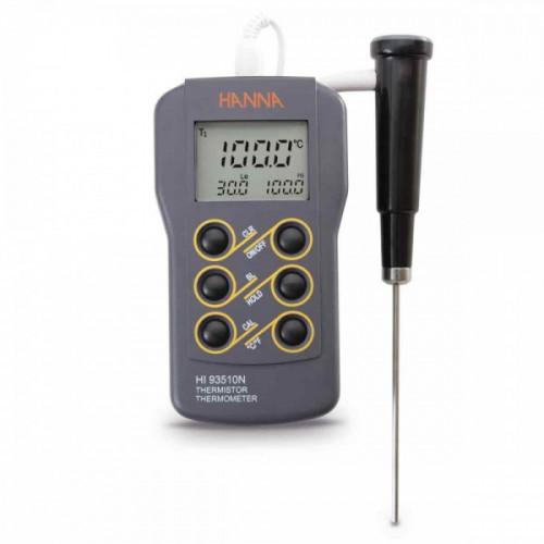 Termómetro Termistor impermeable, función verif calibración y mín/ máx (con sonda)