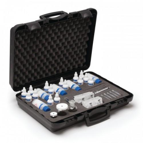 Test Kit combinado para refrigeración y calderas (Alcalinidad / Cloruro / Dureza / Fosfato / OD / Sulfito)