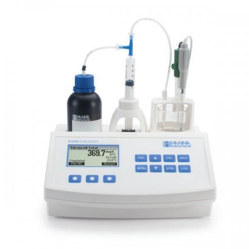 Valorador automático de Acidez Total y pH en agua (mg/ L CaCO3)