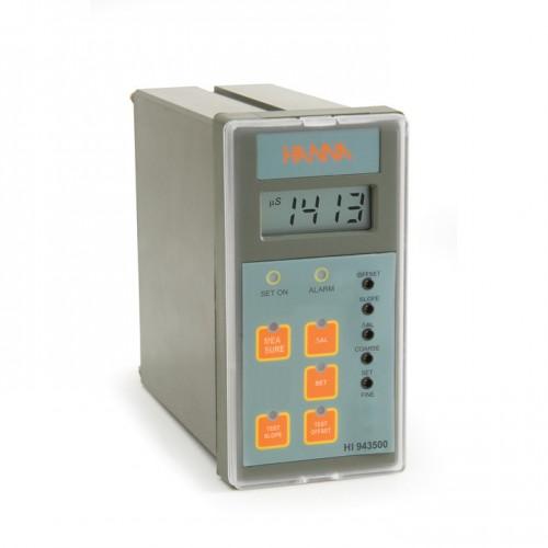 Controlador analógico CE 0,0 a 199,9 mS/ cm, entrada de sonda potenciométrica, salida aislada 4-20 mA