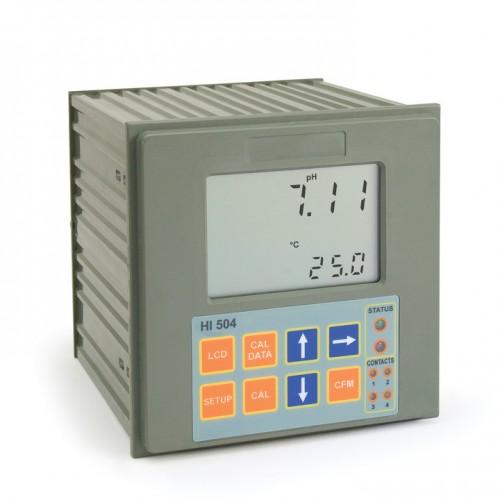 Controlador pH/ ORP con control remoto, 2 puntos de consigna, control ON/ OFF y PID, 2 salidas analógicas, entrada RS485,115V