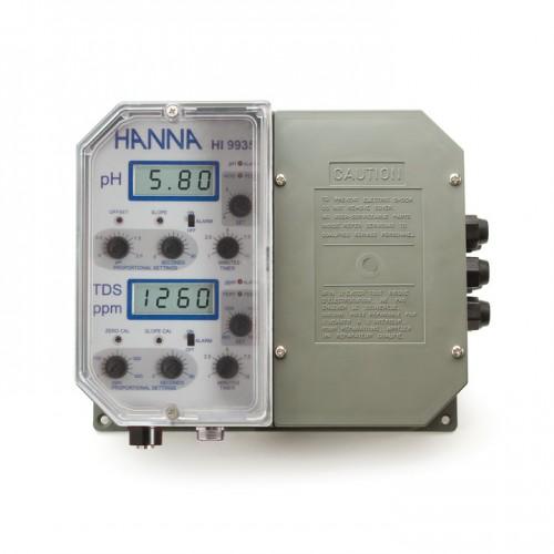 Controlador pH/ TDS de pared, 0 a 1999 mg/ L, para control de la dosificación de fertilizantes