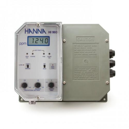 Controlador TDS de pared (0 a 1999 mg/ L), 1 punto de consigna, salida aislada 0-20/ 4-20 mA