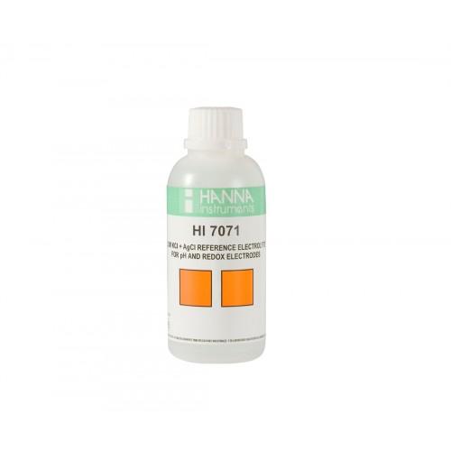 Solución electrolítica 3,5M KCl + AgCl,