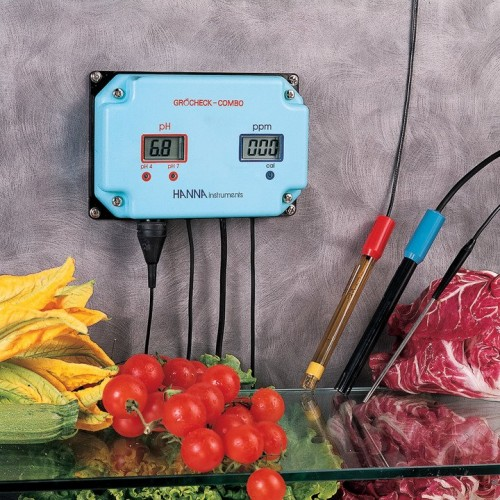 GROCHEK COMBO Indicador pH/ CE (0,00 a 9,99 mS/ cm)