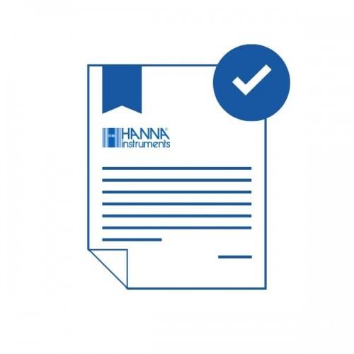 Certificado de calibración trazable a NIST/ISO Guía 34 sin ácido cianúrico