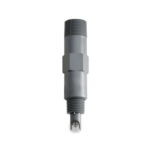 Electrodo pH para control en continuo, cuerpo plástico (124mm), unión PTFE, 6 bar,conector BNC
