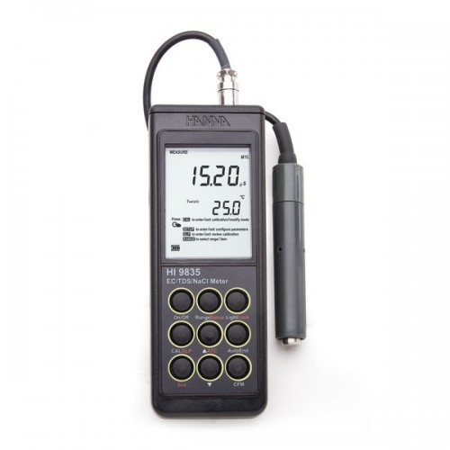 Conductímetro portátil (CE/ TDS/ NaCl/ Temp)