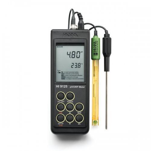 pHmetro portátil (pH/ ORP/ Temp) impermeable, calibr. automática 1/ 2 ptos